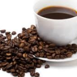 Image of coffee cup and coffee beans